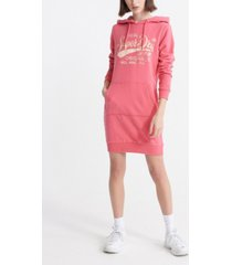 superdry core graphic sweatshirt dress