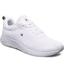 corporate knit rib runner låga sneakers vit tommy hilfiger