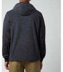 ps paul smith men's regular fit popover hoodie - slate - xxl