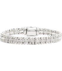 women's lagos caviar spark diamond link bracelet