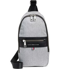 tommy hilfiger men's leo heathered sling backpack, created for macy's