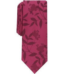 bar iii men's braxton skinny floral tie, created for macy's