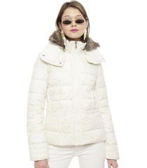 parka desigual corta crudo - calce regular