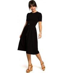 korte jurk be b120 aansluitende midi-jurk - ecru