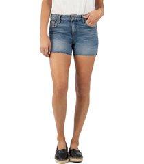 women's kut from the kloth gidget distressed high waist denim shorts, size 00 - blue