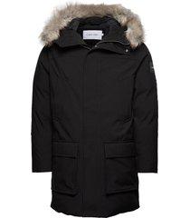 long length premium parka jas zwart calvin klein