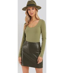 mango jordina skirt - green