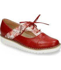 zapatos de cordón rojo bata wroca r mujer