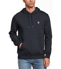 original penguin men's slim-fit solid fleece hoodie
