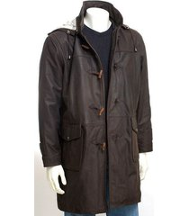 handmade mens brown hooded leather coat, mens trench coat, men's hooded coat