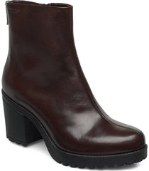 grace shoes boots ankle boots ankle boots with heel brun vagabond