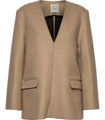 giverny blazers casual blazers beige totême