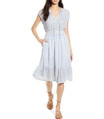 women's rails ashlyn stripe linen blend dress