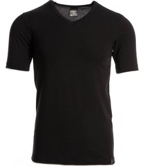 schiesser men t-shirt v-hals zwart( 95/5)