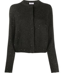 brunello cucinelli sequin cardigan - black