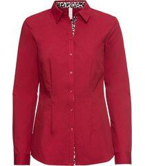 camicetta con inserto leopardato (rosso) - bodyflirt boutique