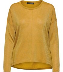 knitted pullover long 1/1 slee stickad tröja orange betty barclay