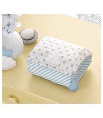 trocador bebê portátil azul nuvem de algodão grão de gente azul