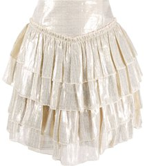 alice mccall high-waisted tiered skirt - gold