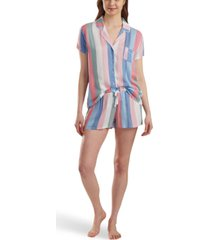 splendid striped shirt & shorts pajama set