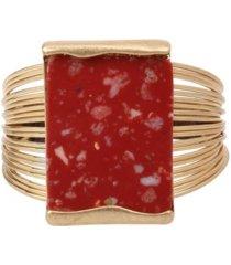 robert lee morris soho jasper stone cuff bracelet