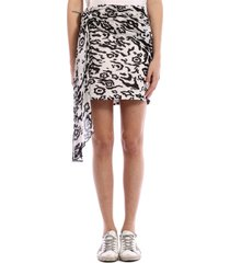 self-portrait leo mini skirt