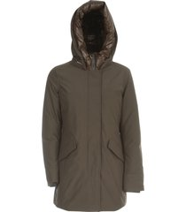 artic parka nf polished padded neck w / hood
