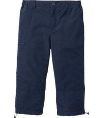 pantalone 3/4 in microfibra con vita elasticizzata ai lati. (blu) - bpc bonprix collection