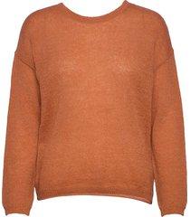 allyssaln knit knot pullover rws gebreide trui oranje lounge nine