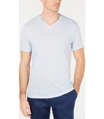 alfani men's linen blend v-neck t-shirt, created for macy's