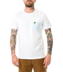 contrast pocket t-shirt ts831v.w362