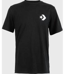 polera converse watching you wordmark cotton jersey graphic t-shirt negro - calce regular