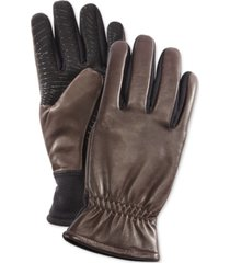 ur men's gathered-wrist leather gloves