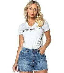 t-shirt daniela cristina gola v 04 602dc10287 branco pp - feminino
