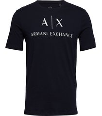 man jersey t-shirt t-shirts short-sleeved svart armani exchange