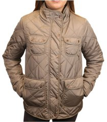 mountain and isles women's diamond quilted field jacket