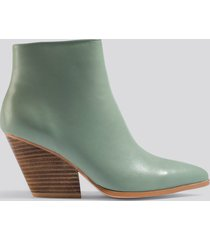 na-kd shoes western heel pointy boots - green