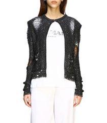 balmain sweater balmain lurex cardigan with jewel buttons