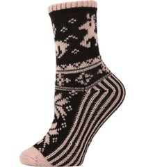 reindeer sweater knit women's crew socks