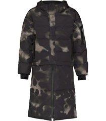 templa nas oversized convertible puffer coat - black