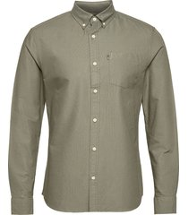 kyle organic cotton oxford shirt overhemd casual groen lexington clothing