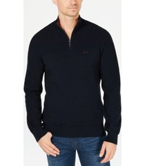 ax armani exchange men's quarter-zip sweater