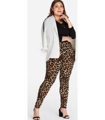 plus leggings con estampado de leopardo