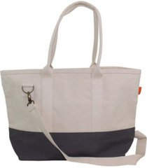 cb station color block utility tote