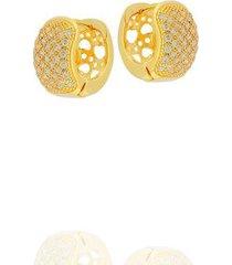 brinco argola dona diva semi jóias média feminino