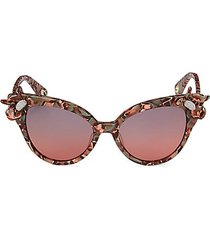 crystal lily 52mm cat eye sunglasses