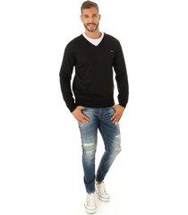 blusa opera rock suéter clássico preto - kanui