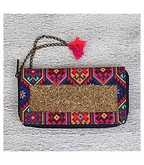 natural fiber wallet, 'native culture' (mexico)
