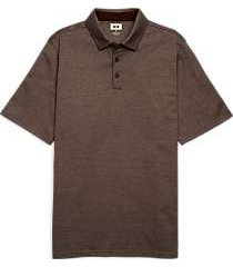 joseph abboud brown polo shirt