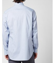 canali men's micro cotton slim fit shirt - mid blue - it 42/xl